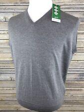 NEW! Hawick Knitwear V-Neck Sweater Jumper Golf Vest Scotland Wool Large $150