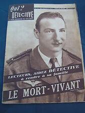 Détective 1947 71 MOULINS SAINT MARCEL THEIX SAINT GENèS CHAMPANELLE