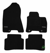 LOGO Fully Tailored black floor car mats fits Hyundai Tucson mk2 2015-up 4pcs