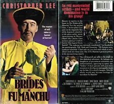 Brides of Fu Manchu VHS Video Tape New Christopher Lee Douglas Wilmer Don Sharp