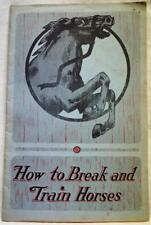 Beery School Of Horsemanship Horse Training Brochure Guide Early 1900s Vintage