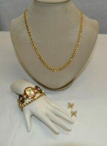Trifari Necklace Money Bracelet Joan Rivers Watch and Napier Butterfly Earrings