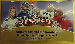 2010 UPPER DECK WORLD OF SPORTS FACTORY SEALED BLASTER BOX SPORTS TRADING CARDS