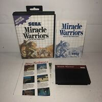 Sega Master System Game MIRACLE WARRIORS Complete CIB Tested SAVES Fun RPG