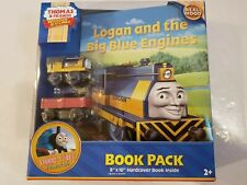 Thomas & Friends Wooden Railway NIB Logan big blue Engines Book pack new