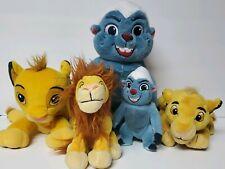 Huge lot of 5 Disney The Lion King Figure Plush Stuffed animal toy