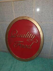 Vintage Resin pub sign  / restaurant  / cafe / mancave sign   ( Quality food )