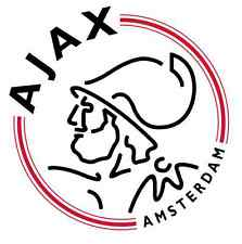 STICKER BUTTON FC AJAX AMSTERDAM ROND 9,5 CM TRANSPARENT NIEUW STICKER VOETBALL