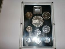 "-INDIA- 9 COIN PROOF SET- ""GROW MORE FOOD""-1973-RS.10,1+PAISE 50,25,10,5,3,2 & 1"