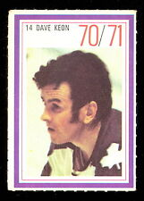 1970-71 ESSO POWER PLAYERS NHL #14 DAVE KEON EX-NM MAPLE LEAFS UNUSED STAMP
