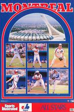 POSTER: MLB BASEBALL: MONTREAL EXPOS 1989 6 KEY PLAYER COLLAGE -FREE SHIP RC12 E