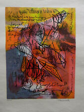 Zeefdruk Mohammed Quraish scene two 393/500 Signed by the Artist 2006