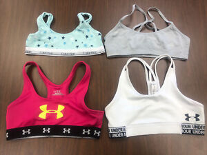 UNDER ARMOUR CALVIN KLEIN HANES LOT GIRLS YOUTH SPORT BRAS BRA ALL SIZE L LARGE