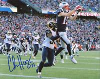 Chris Hogan Autographed Vs. LA Rams 8x10 Photo