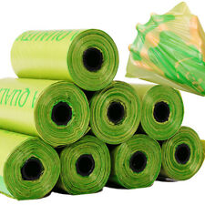8 Rolls/120PCS  Dog Poo Bags Pet Waste Poop Pick Up Biodegradable Garbage Bag