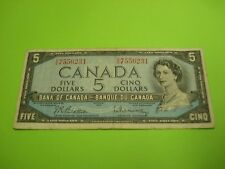 1954 - Canada - $5 note - Canadian five dollar - VS7556231