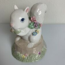 Vintage Heritage House Squirrel Music Box Fine Porcelain Soft And Sweet Precious