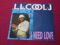 """LL Cool J:  I need love    UK  NM   7"""""""
