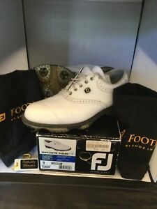 FootJoy DryJoys Tour Golf Shoes - White/White Croc sz. 9 M.  Classics shoe bags