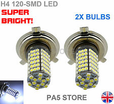 2X H4 120-SMD LED Bulbs SUPER BRIGHT White FOG DRL Daytime Running Light Lamp UK
