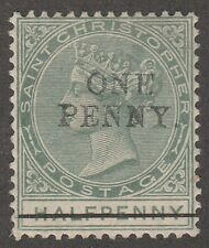 Kappysstamps M2271 British St Christopher Scott # 21 Mint Hinged Catalog = $50