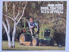 1987 John Deere 14.5 - 60 HP Diesel Tractor Dealer Brochure LOTS More Listed