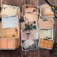 13x Vintage Notizblock Letters Scrapbooking Aufkleber DIY Journal Album Card Dek