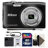 Nikon Coolpix A100 20.1MP Compact Digital Camera with Accessory Bundle (Black)