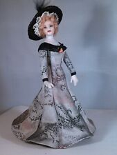 "ARTIST MINIATURE PORCELAIN DOLLHOUSE  DOLL ""ARLETTE"" 1:12 SCALE BY LINDA MIZE"