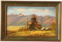 1986 ARMENIAN CHURCH Art Painting RUSSIAN ARMENIAN- Mikaeyl Arakelyan/ Arakelian