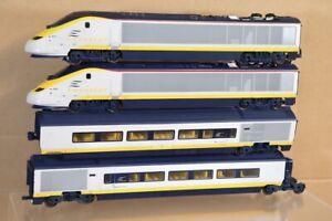 HORNBY JOUEF BR SNCF ERUOSTAR 4 CAR LOCOMOTIVE SET 3021 3220 nx