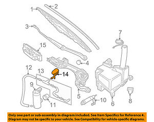 JAGUAR OEM 00-08 S-Type Windshield Wiper Washer-Nozzle Spray Jet XR818406PDT