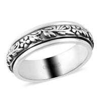 925 Sterling Silver Spinner Ring Elegant Fashion Jewelry Gift For Women Size 5