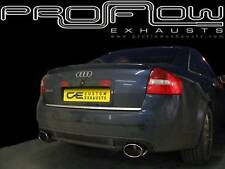 AUDI A6 RS6 STAINLESS STEEL CUSTOM BUILT EXHAUST BACK BOX DUAL TAIL PIPES PIPE
