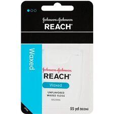 Reach Dental Floss, Waxed, Unflavored, 55 yd