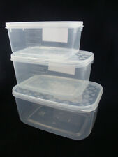 Set of 3 Plastic Food Storage Containers Kitchen measured container BPA FREE new