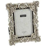 Silver / Crystal / Flower Design Photo Frame.4 sizes Avail.4x6. 5x7. 6x8. 8x10