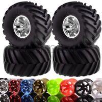 Monster Truck 6 Spoke Wheel Rim & Tire 4P For RC 1/10 Traxxas REDCAT HSP HPI