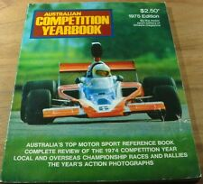 1975 Australian COMPETITION YEARBOOK.Bathurst.Brock  HDT.FORD.Motor Car Racing