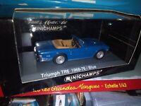 MINICHAMPS 1/43 TRIUMPH TR6 1968/76 BLUE NEUF EN BOITE