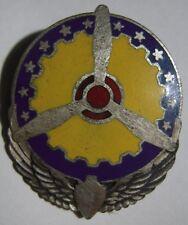 WW2 AAF *Air Service Command* Sterling Unit Crest D.I. - Gemsco Marked - Odd PB