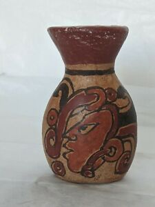 Pre-columbian mayan/ Aztec pottery with gold flakes/nuggets throughout.stunning