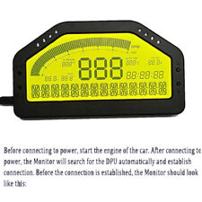 Car Dash Race Display OBD2 Bluetooth Dashboard LCD Screen Digital Gauge Kit Set
