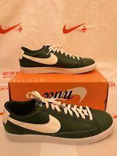 Nike Blazer Bajo AJ9515-001 UK 14 volúmenes Cuero Verde Blanco Vela