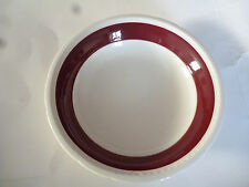 Swinnertons Majestic Vellum china bowl 8 ins plain burgundy rim replacement