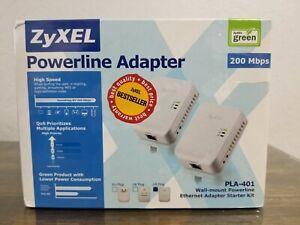 ZyXEL  200 Mbps Gigabit Powerline Wall-Plug Adapter Starter Kit brand new