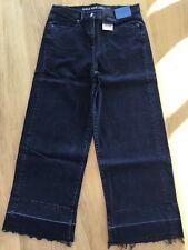 NEW NEXT 12 XL Black Ankle Wide Leg High Rise Jeans