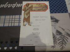 Paquebot Albertville Congo Belge - menu 23 décembre 1932