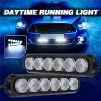 2X Car Motorcycle DRL Daytime Running Lights Driving Daylight Fog Lamp LED  !