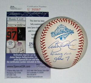 MARLINS Craig Counsell signed 1997 World Series baseball w/ Winning Run GM 7 JSA